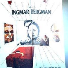 Cine: AFICHE POSTER CINE INGMAR BERGMAN DE LA VIDA DE MARIONETAS. Lote 268097699