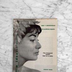 Cine: FILM IDEAL - Nº 79 - 1961 - MARCELA YURFA, SIMON FELDMAN, STANLEY DONEN. Lote 268115809