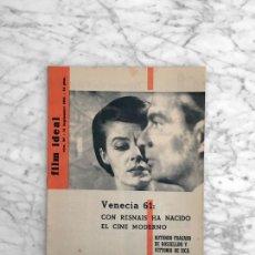 Cine: FILM IDEAL - Nº 80 - 1961 - VENECIA 61, CINE ALEMAN, SAN SEBASTIAN. Lote 268116324