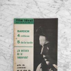 Cine: FILM IDEAL - Nº 81 - 1961 - SILVANA MANGANO, CINE CHECO, MACK SENNETT, VENECIA 61, FELLINI, BARDEM. Lote 268268809