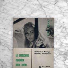 Cine: FILM IDEAL - Nº 83 - 1961 - ELISABETTA VELINSKY, CINE ESPAÑOL, RENE CLAIR, LOS MARX, ESPARTACO. Lote 268270939