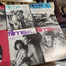 Cine: LOTE 55 REVISTAS FILMS AND FILMING. ALGUNAS MUY BUSCADAS. Lote 268322764