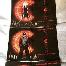 Cine: 3 MINI POSTERS DEL FILM MUSICAL CHICAGO EXCLUSIVOS. Lote 268713914