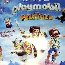 Cine: POSTER ORIGINAL CINE ANIMACION PLAYMOBIL LA PELICULA. Lote 268715539