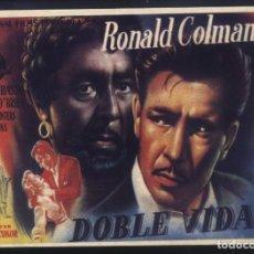 Cine: P-9486- DOBLE VIDA (A DOUBLE LIFE) (RECORTE DE PRENSA 14X10) RONALD COLMAN - SIGNE HASSO. Lote 268796004