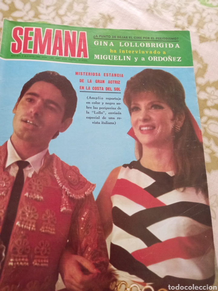 SEMANA 1968 GINA LOLLOBRIGIDA RAFAEL (Cine - Revistas - Otros)