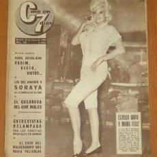 Cine: CINE EN 7 DIAS #103 1963 JAYNE MANSFIELD FRANÇOISE HARDY SOLEDAD MIRANDA RAFAEL GIL ELVIS PRESLEY. Lote 269444368