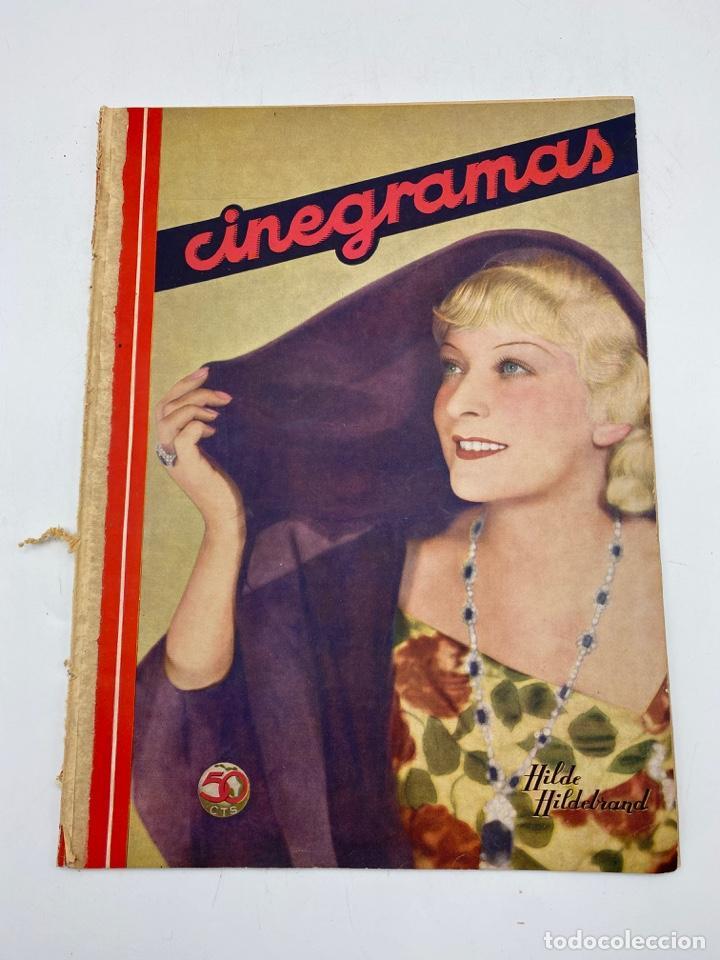 REVISTA CINEGRAMAS. AÑO II. Nº 61. NOVIEMBRE, 1935. PORTADA: HILDE HILDEBRAND (Cine - Revistas - Cinegramas)