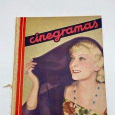 Cine: REVISTA CINEGRAMAS. AÑO II. Nº 61. NOVIEMBRE, 1935. PORTADA: HILDE HILDEBRAND. Lote 269601903