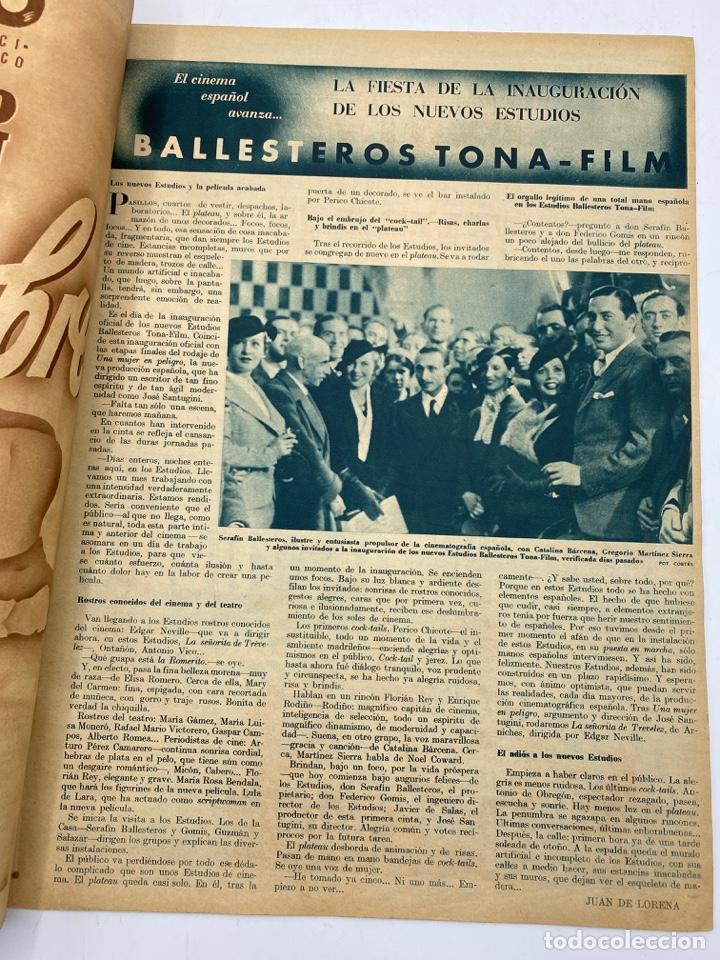 Cine: REVISTA CINEGRAMAS. AÑO II. Nº 61. NOVIEMBRE, 1935. PORTADA: HILDE HILDEBRAND - Foto 3 - 269601903