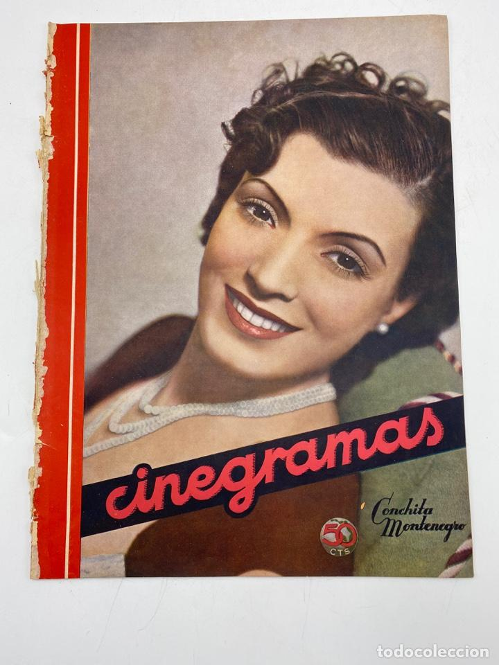 REVISTA CINEGRAMAS. AÑO II. Nº 62. NOVIEMBRE, 1935. PORTADA: CONCHITA MONTENEGRO (Cine - Revistas - Cinegramas)