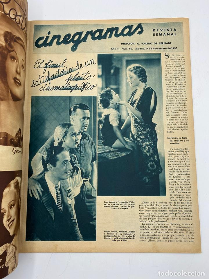 Cine: REVISTA CINEGRAMAS. AÑO II. Nº 62. NOVIEMBRE, 1935. PORTADA: CONCHITA MONTENEGRO - Foto 2 - 269603013