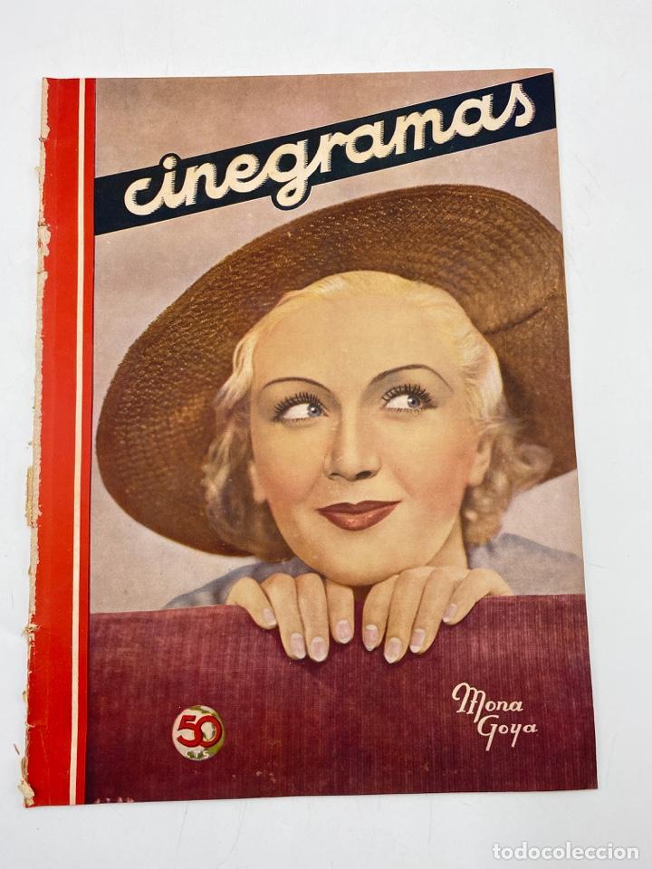 REVISTA CINEGRAMAS. AÑO II. Nº 64. NOVIEMBRE, 1935. PORTADA: MONA GOYA (Cine - Revistas - Cinegramas)