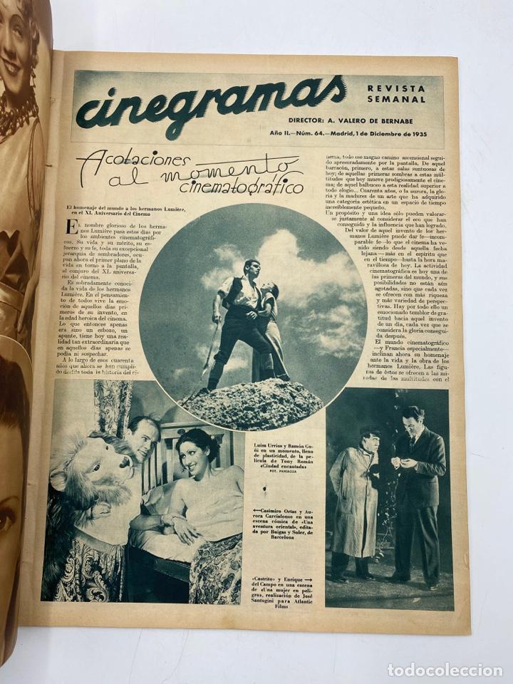 Cine: REVISTA CINEGRAMAS. AÑO II. Nº 64. NOVIEMBRE, 1935. PORTADA: MONA GOYA - Foto 2 - 269605703