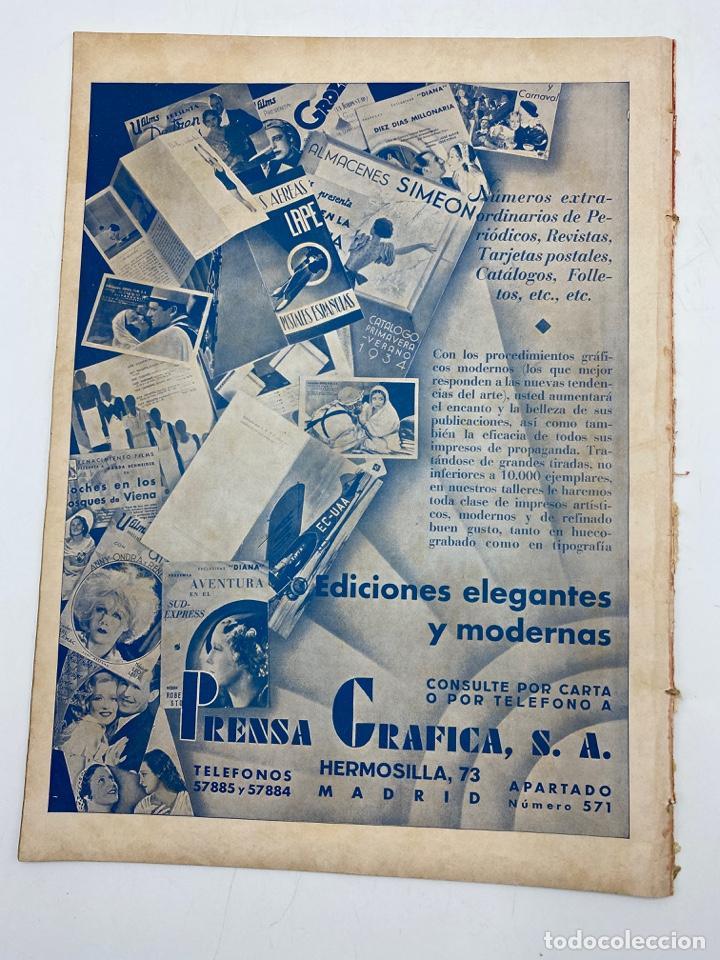 Cine: REVISTA CINEGRAMAS. AÑO II. Nº 64. NOVIEMBRE, 1935. PORTADA: MONA GOYA - Foto 4 - 269605703