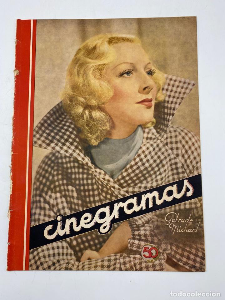 REVISTA CINEGRAMAS. AÑO II. Nº 65. DICIEMBRE, 1935. PORTADA: GETRUDE MICHAEL (Cine - Revistas - Cinegramas)