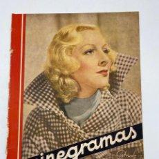 Cine: REVISTA CINEGRAMAS. AÑO II. Nº 65. DICIEMBRE, 1935. PORTADA: GETRUDE MICHAEL. Lote 269606888