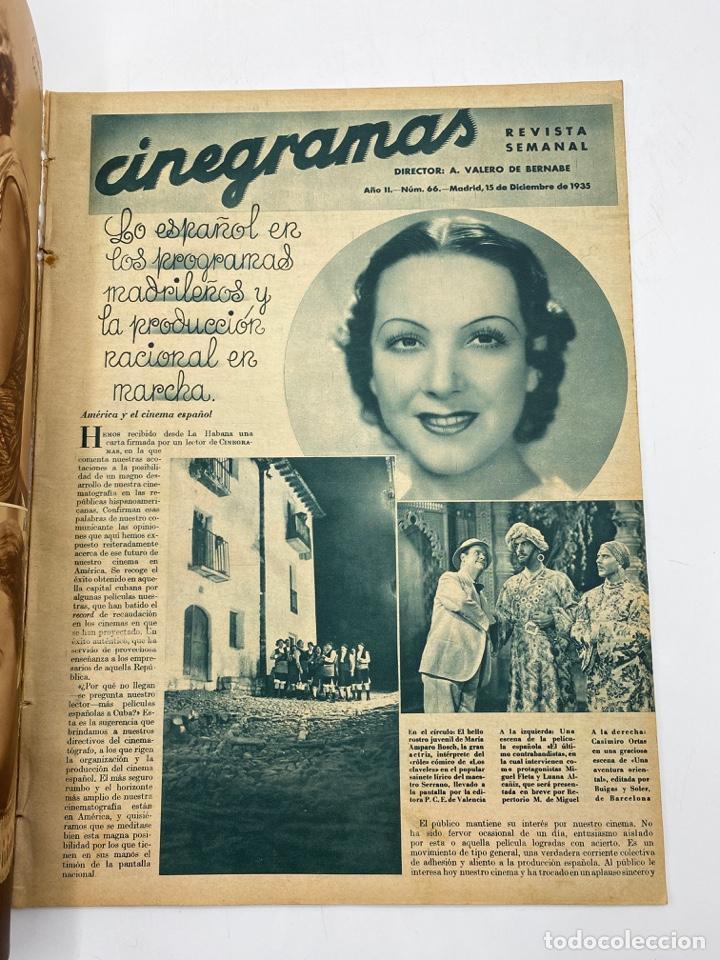 Cine: REVISTA CINEGRAMAS. AÑO II. Nº 66. DICIEMBRE, 1935. PORTADA: JEAN PARKER - Foto 2 - 269607528
