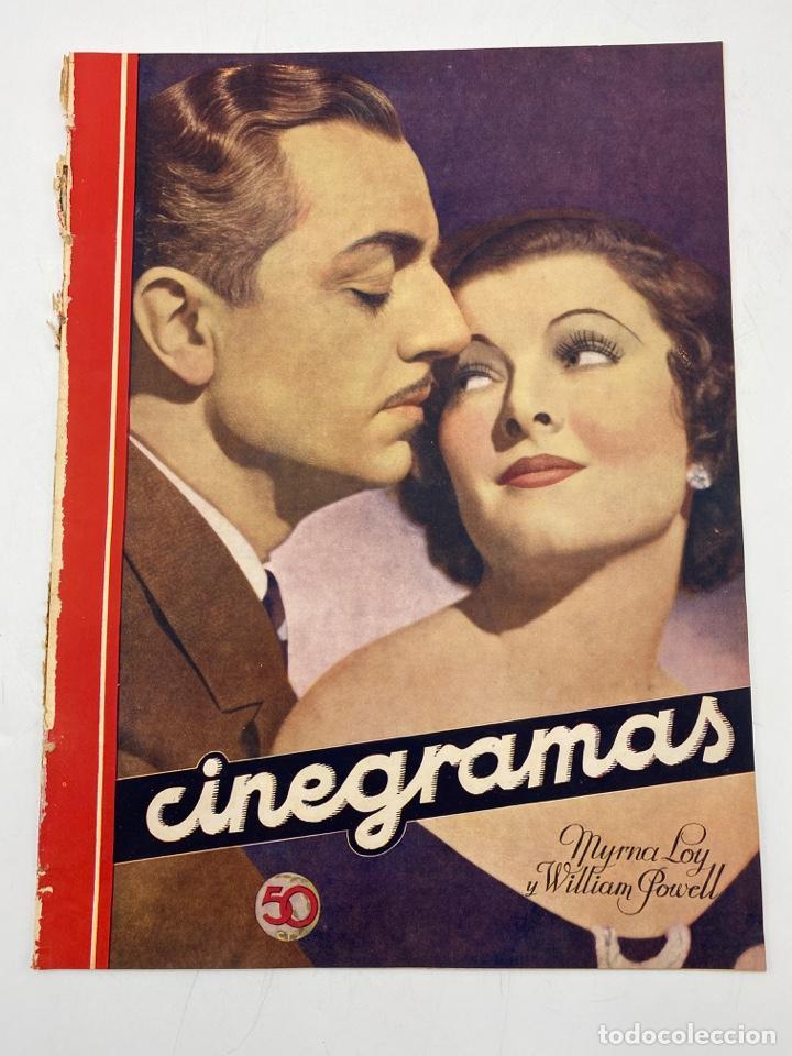REVISTA CINEGRAMAS. AÑO II. Nº 68. DICIEMBRE, 1935. PORTADA: MYRNA LOY Y WILLIAM POWELL (Cine - Revistas - Cinegramas)