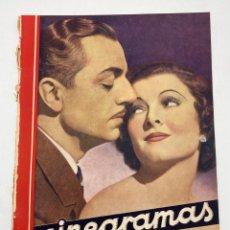 Cine: REVISTA CINEGRAMAS. AÑO II. Nº 68. DICIEMBRE, 1935. PORTADA: MYRNA LOY Y WILLIAM POWELL. Lote 269612148