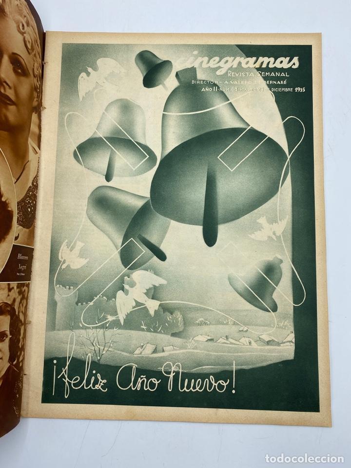 Cine: REVISTA CINEGRAMAS. AÑO II. Nº 68. DICIEMBRE, 1935. PORTADA: MYRNA LOY Y WILLIAM POWELL - Foto 2 - 269612148