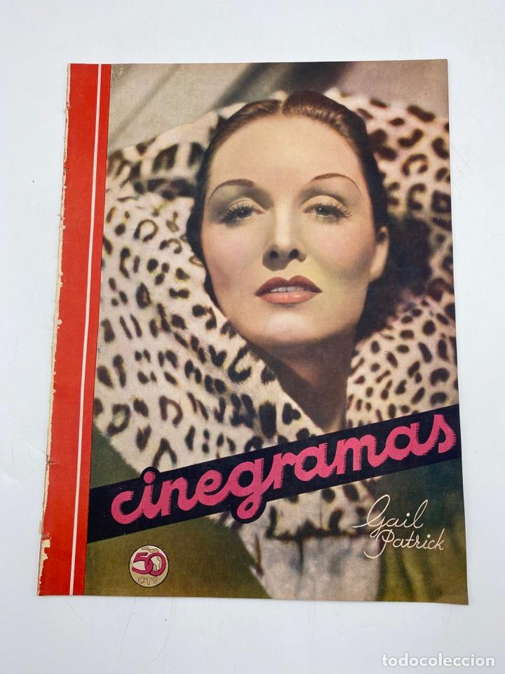 REVISTA CINEGRAMAS. AÑO III. Nº 70. ENERO, 1936. PORTADA: GAIL PATRICK (Cine - Revistas - Cinegramas)