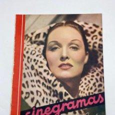 Cine: REVISTA CINEGRAMAS. AÑO III. Nº 70. ENERO, 1936. PORTADA: GAIL PATRICK. Lote 269614458