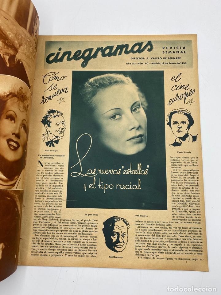 Cine: REVISTA CINEGRAMAS. AÑO III. Nº 70. ENERO, 1936. PORTADA: GAIL PATRICK - Foto 2 - 269614458