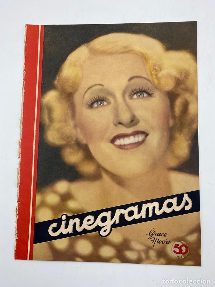 REVISTA CINEGRAMAS. AÑO III. Nº 74. ENERO, 1936. PORTADA: GRACE MOORE (Cine - Revistas - Cinegramas)