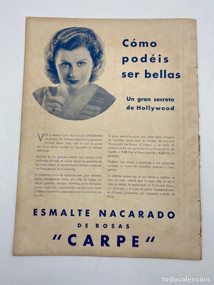 Cine: REVISTA CINEGRAMAS. AÑO III. Nº 74. ENERO, 1936. PORTADA: GRACE MOORE - Foto 4 - 269615483