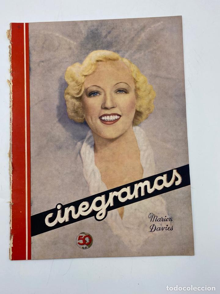 REVISTA CINEGRAMAS. AÑO III. Nº 72. ENERO, 1936. PORTADA: MARION DAVIES (Cine - Revistas - Cinegramas)