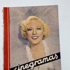 Cine: REVISTA CINEGRAMAS. AÑO III. Nº 72. ENERO, 1936. PORTADA: MARION DAVIES. Lote 269618123