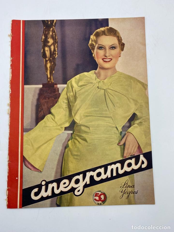 REVISTA CINEGRAMAS. AÑO III. Nº 74. FEBRERO, 1936. PORTADA: LINA YEGROS (Cine - Revistas - Cinegramas)