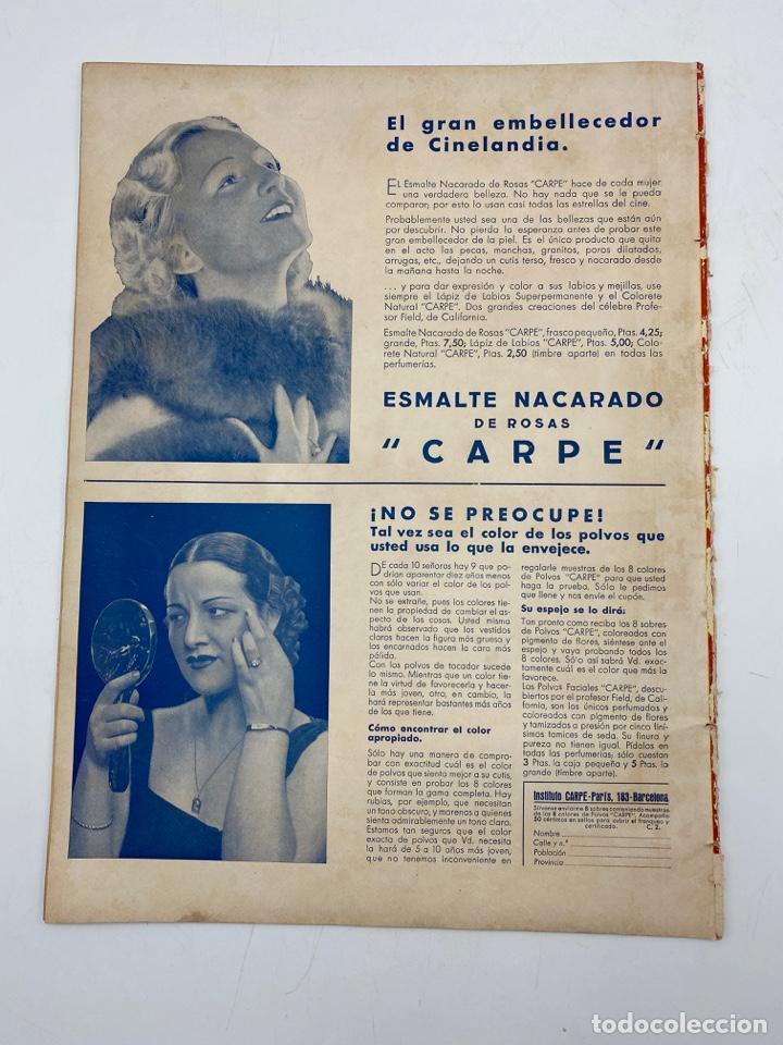 Cine: REVISTA CINEGRAMAS. AÑO III. Nº 75. FEBRERO, 1936. PORTADA: MADELEINE CARROLL Y ROBERT DONAT - Foto 4 - 269619658