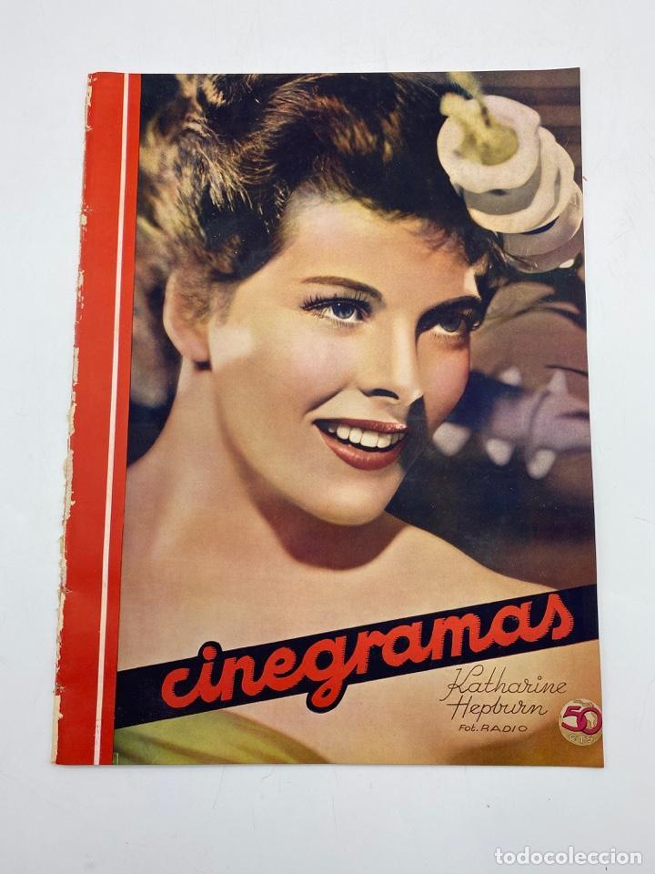 REVISTA CINEGRAMAS. AÑO III. Nº 76. FEBRERO, 1936. PORTADA: KATHERINE HEPBURN (Cine - Revistas - Cinegramas)