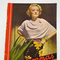 Cine: REVISTA CINEGRAMAS. AÑO III. Nº 77. MARZO, 1936. PORTADA: MARLENE DIETRICH. Lote 269620728