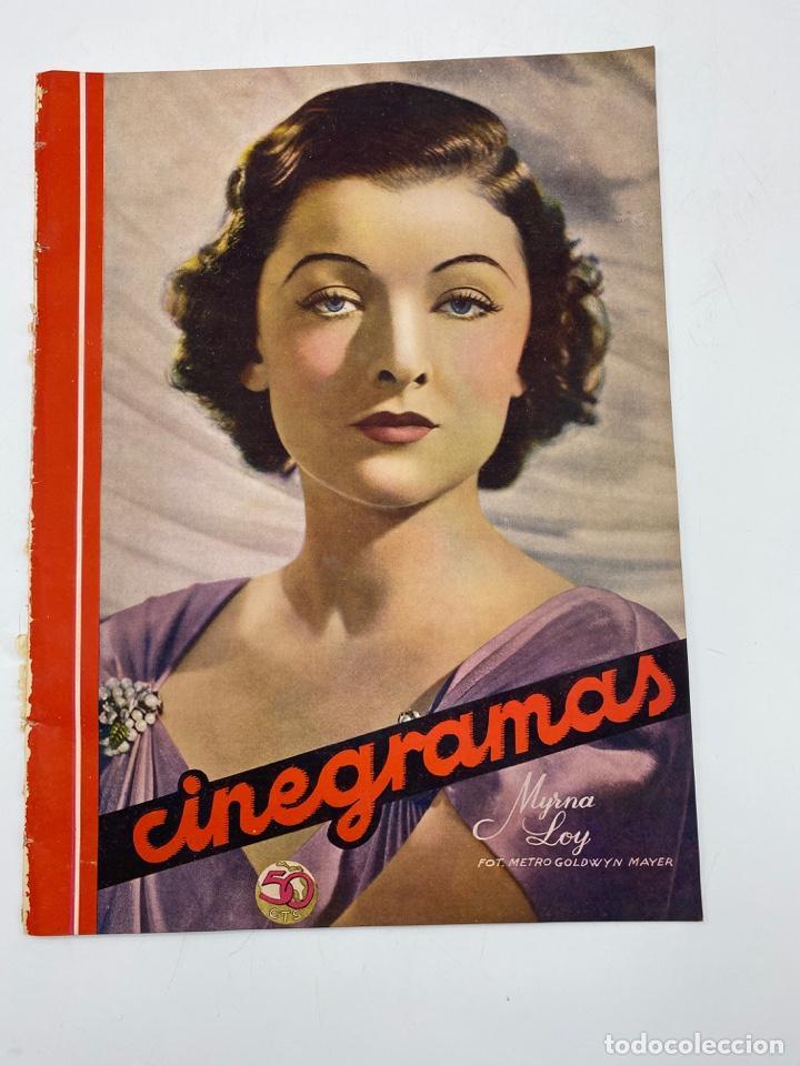 REVISTA CINEGRAMAS. AÑO III. Nº 78. MARZO, 1936. PORTADA: MYRNA LOY (Cine - Revistas - Cinegramas)