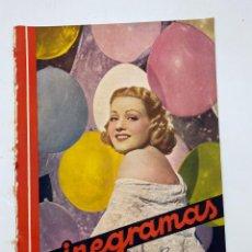 Cine: REVISTA CINEGRAMAS. AÑO III. Nº 79. MARZO, 1936. PORTADA: GRACE BRADLEY. Lote 269621788