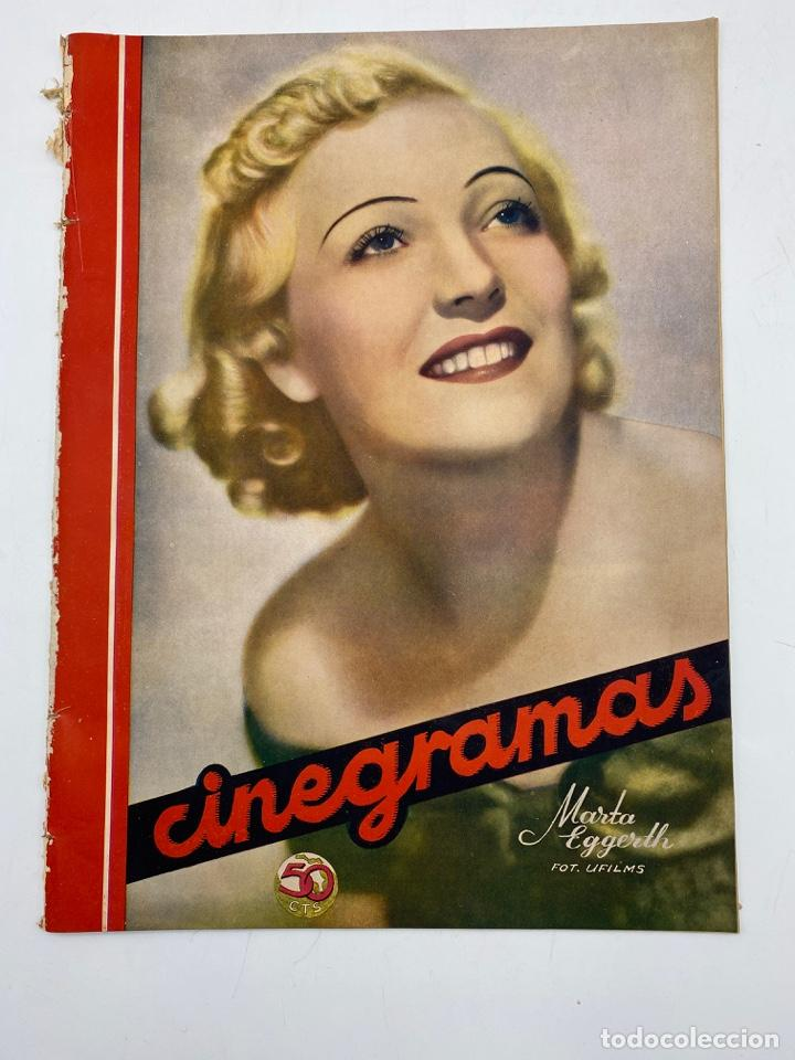 REVISTA CINEGRAMAS. AÑO III. Nº 80. MARZO, 1936. PORTADA: MARTA EGGERTH (Cine - Revistas - Cinegramas)