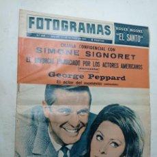 Cine: REVISTA FOTOGRAMAS 866 MAYO 1965 SIMONE SIGNORET GEORGE PEPPARD CANNES ROGER MOORE EL SANTO. Lote 269699268
