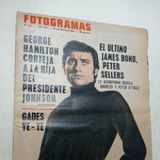 Cine: REVISTA FOTOGRAMAS 914 ABRIL 1966 ANTONIO GADES GEORGE HAMILTON JAMES BOND PETER SELLERS. Lote 269707273
