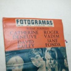 Cine: REVISTA FOTOGRAMAS 888 AGOSTO 1965 CATHERINE DENEUVE JANE FONDA ROGER VADIM DAVID BAILEY. Lote 269707343