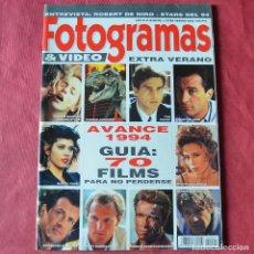 Cine: FOTOGRAMAS - EXTRA VERANO 1 - 1993 - ROBERT DE NIRO - STARS 94. Lote 269794813