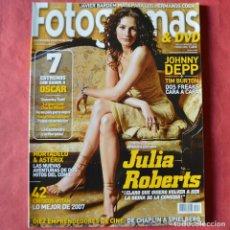 Cine: FOTGRAMAS - Nº 1972 - FEBRERO 2008 - JULIA ROBERTS. Lote 269796903