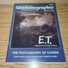 Cine: AMERICAN CINEMATOGRAPHER: E.T.. Lote 270167093