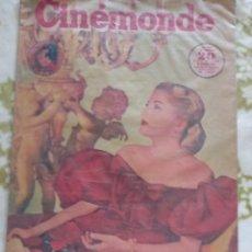 Cine: JOAN FONTAINE CINEMONDE 1948. Lote 270228738