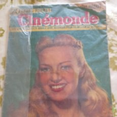 Cine: BETTY GRABLE ANN SHERIDAN CINEMONDE 1948. Lote 270232243