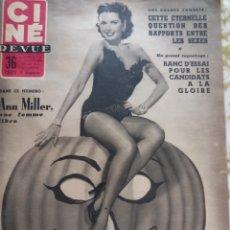 Cine: ANN MILLAR JAMES DEAN CINE REVUE 1955. Lote 270233553