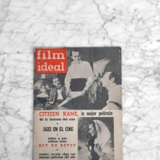 Cine: FILM IDEAL - Nº 89 - 1962 - CIUDADANO KANE, MEJORES PELICULAS, EL JAZZ, CINE BRASILEÑO, REY DE REYES. Lote 270353738