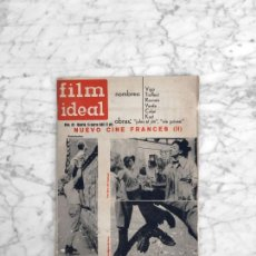 Cine: FILM IDEAL - Nº 92 - 1962 - NUEVO CINE FRANCES, JEAN VIGO, TRUFFAUT, RESNAIS, GUERNICA, JULES ET JIM. Lote 270356718